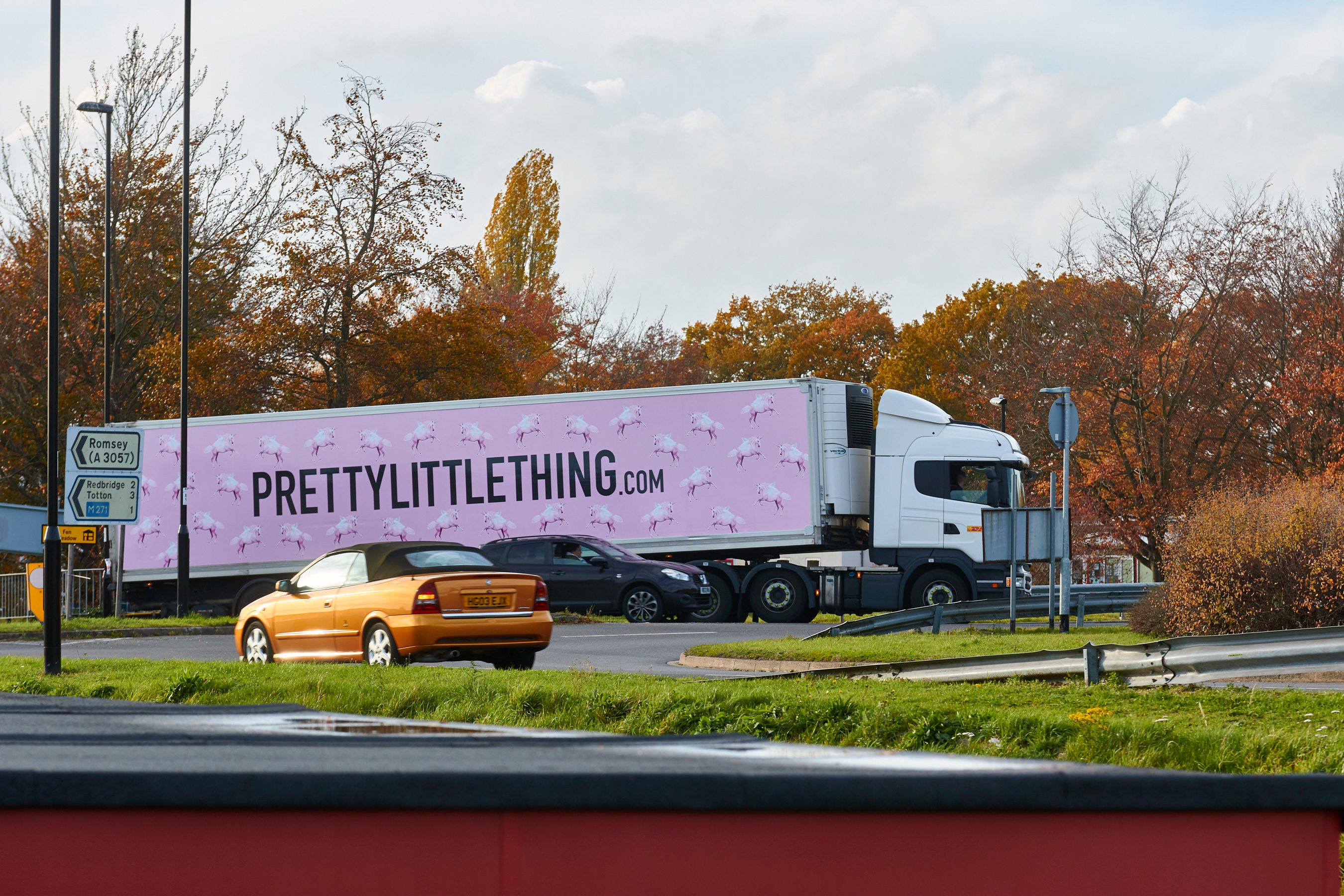 Pretty Little Thing truck wrap from In Your Space