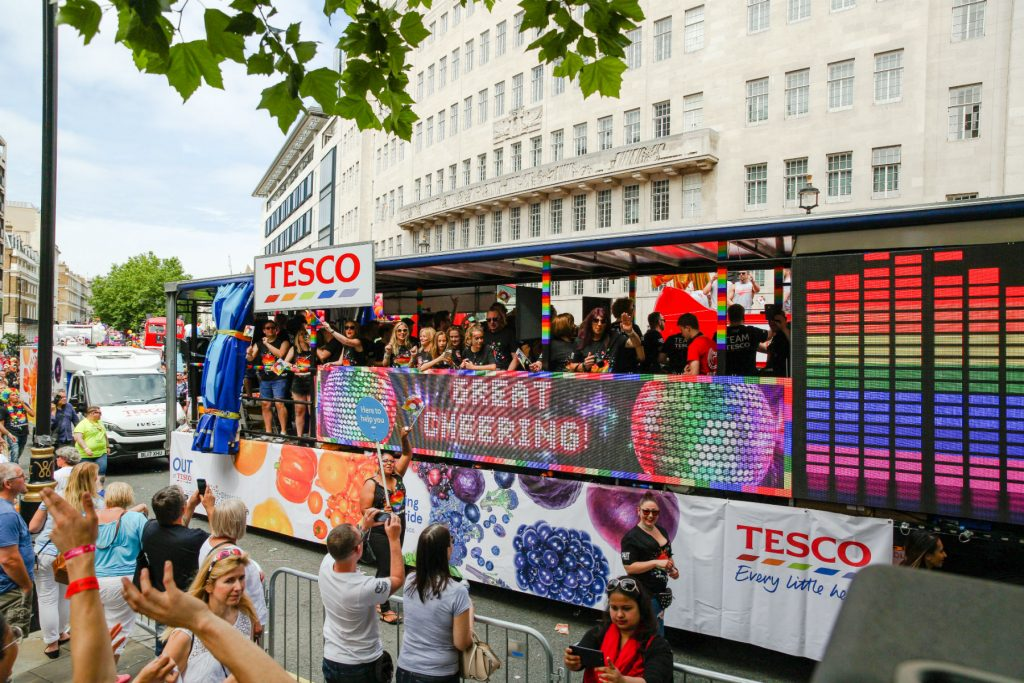 Tesco LED Pride Float