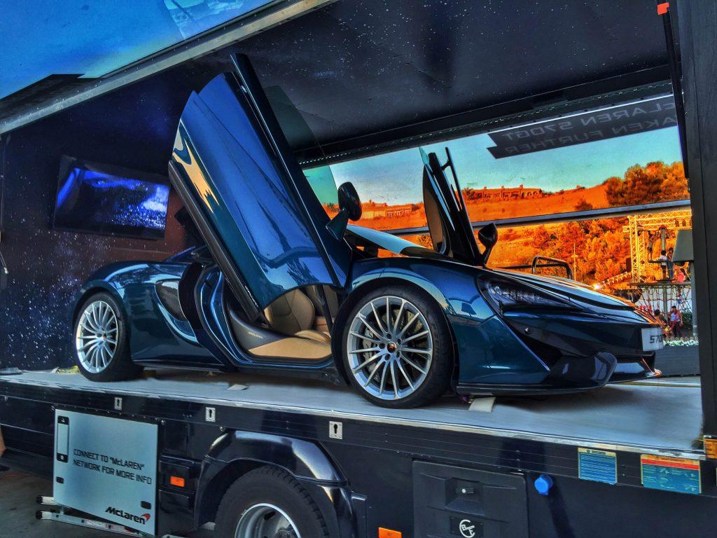 McLaren Transparent Gull Wing Vehicle