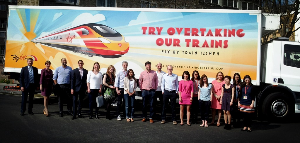 Virgin Trains try overtaking our trains truck advert
