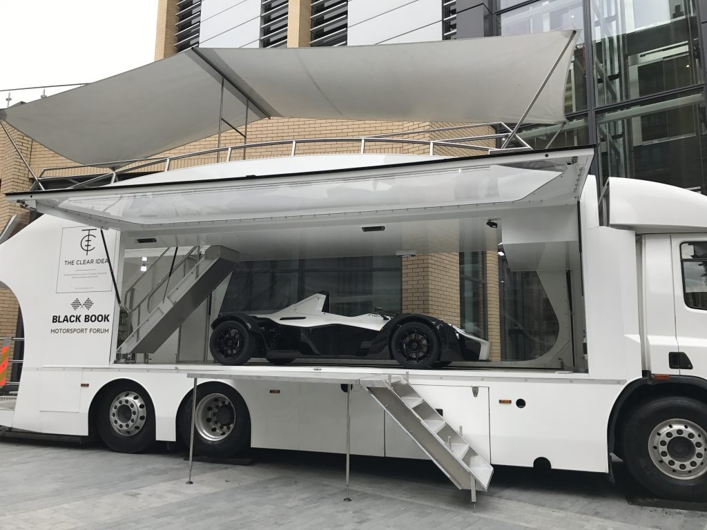 BAC Mono in The Clear Idea Transporter