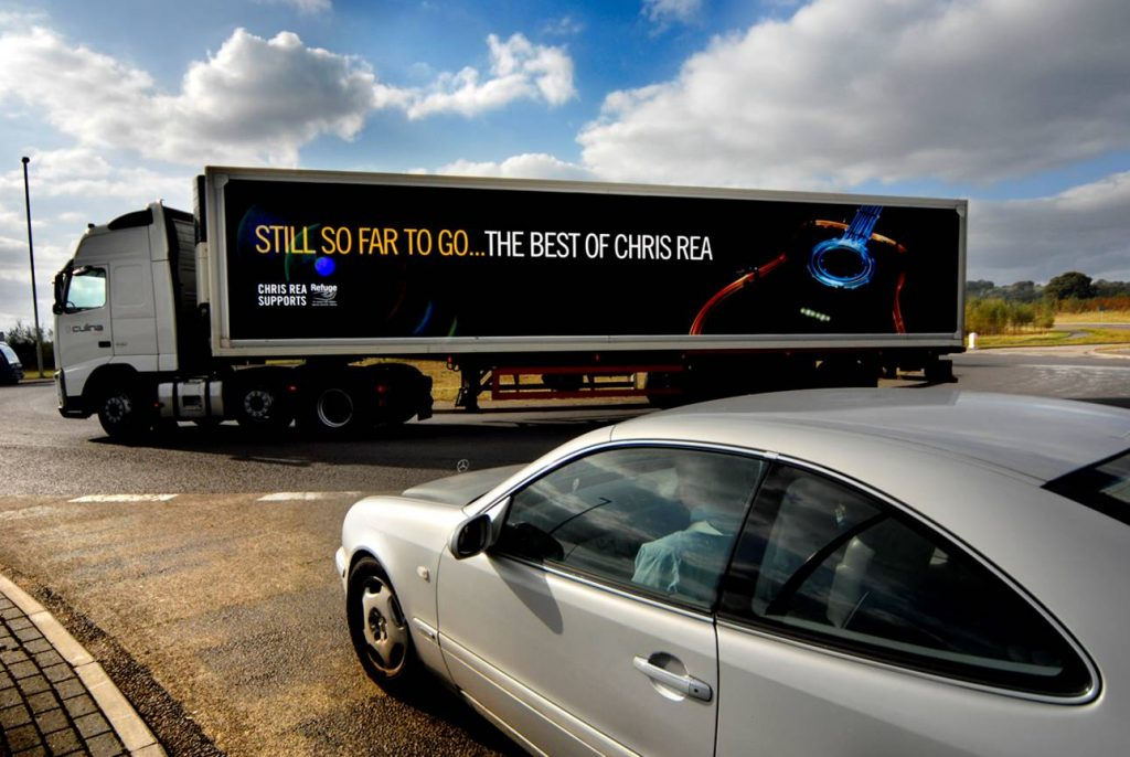 Chris Rea truck advert from In Your Space